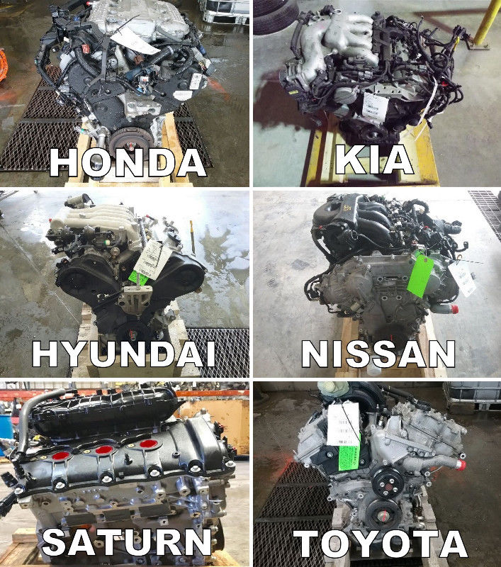 Moteurs Honda, Hyundai, Kia, Mazda, Nissan, Subaru, Toyota